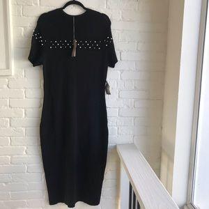 NY & Co Eva Mendes Long Black Evening Dress large